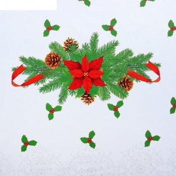 Скатерть этель рождественский бал, размер 150х220 см