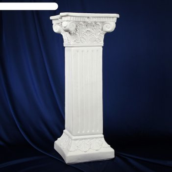 Колонна античная, белый 65х27см