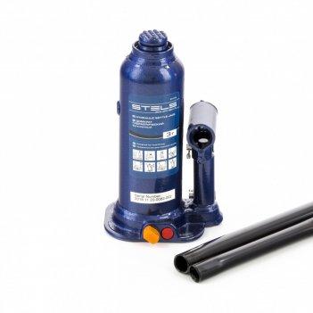 Домкрат гидравлический бутылочный, 4 т, h подъема 188-363 мм, в пластиково