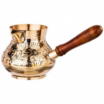 Турка резная 800мл. латунь (кор=30шт.)