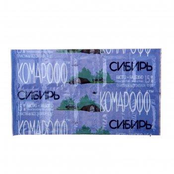 Пластины комарофф сибирь без запаха, поперечные 10 шт