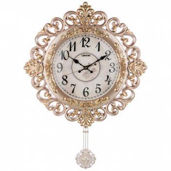 Часы настенные кварцевые с маятником 48,5*8,5*65 см (кор=8шт.) циферблат 2