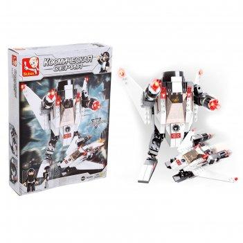 Конструктор космический десант робот трансформер, 135 деталей