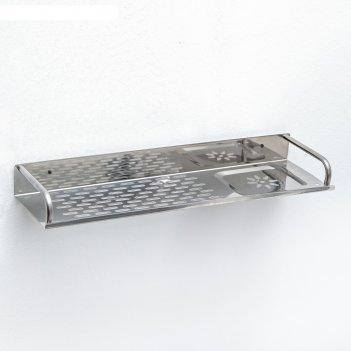 Полка 40x11x4 см, нержавеющая сталь