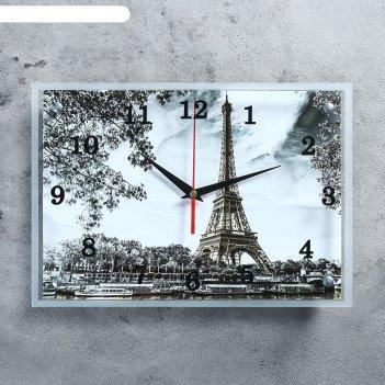 Часы настенные, серия: город, эйфелева башня, 25х35  см, микс