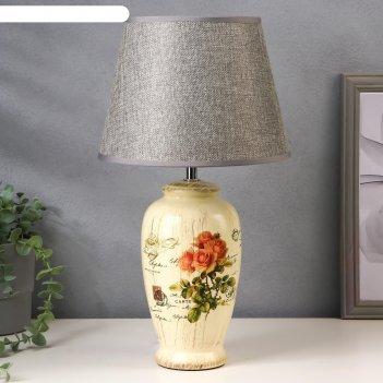Настольная лампа 20616/1 1х40вт е14 желтый d=25см, h=42 см