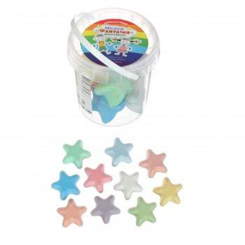 Мелки цветные для асфальта (фигурные) 10 штук 10цв фантазия звездочка плас