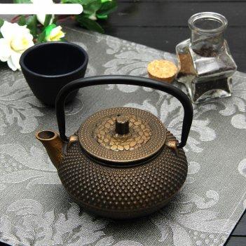 Чайник с ситом 300 мл восточная ночь. золото, цвет черный