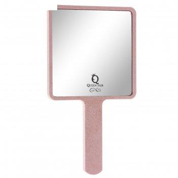 Зеркало подвесное, с ручкой, квадратное, без увеличения, цвета микс