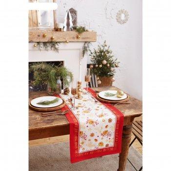 Дорожка на стол golden christmas 40*147 см, 100% хл, саржа 190гр/м2