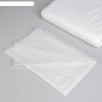 Простыня одноразовая, плотность 15 г/м2, sms, 70 x 80 см, цвет белый
