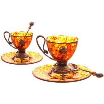 Чаша для чая цезарь из янтаря