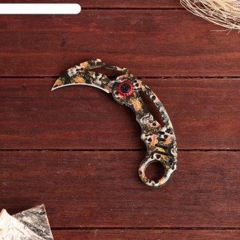 Нож-керамбит складной черепа клинок 6см
