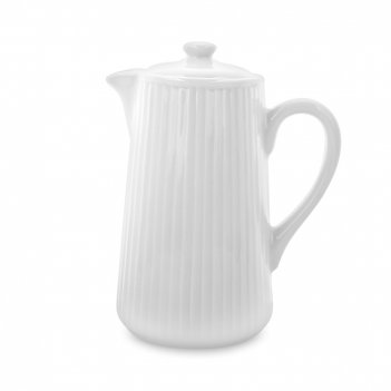Кофейник, объем: 350 мл, материал: фарфор, цвет: белый, серия plisse, 3342