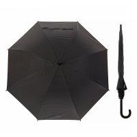 Зонт полуавтоматический клетка мелкая , трость, r=54см, цвет чёрный