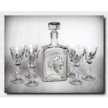 Набор для водки с рюмками  орлы успеха      арт. ншт110ус-56