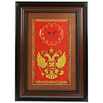 Коллаж-часы 3d герб россии 30*42см
