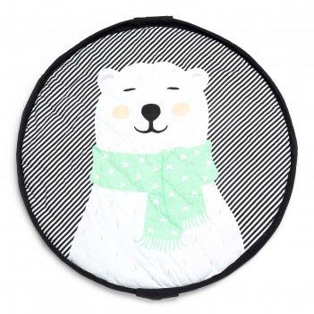 Мягкий игровой коврик и мешок для игрушек 2 в 1 play&go soft «белый мишка»