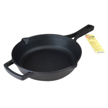 Сковорода чугун 26см лит/руч tm brizoll