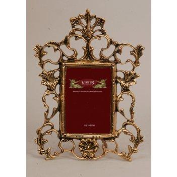 Фоторамка из бронзы маленькая virtus золото 27х21см 4788