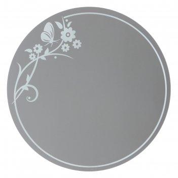 Зеркало, настенное, с пескоструйной графикой, 65х65 см