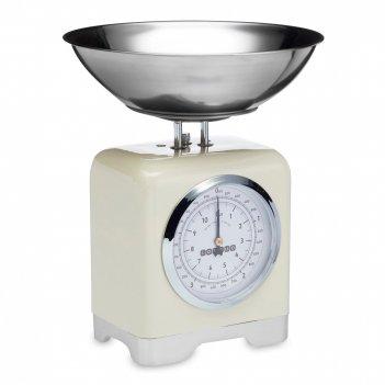 Весы кухонные механические, размер: 30,5 х 25 см, материал: металл, цвет: