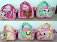 Т56594, сумочки из плюша, декорированные мордочками питомцев winx