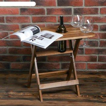 Столик журнальный винный, 60 х 40 х 50 см, массив ясеня