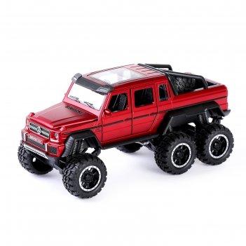 Машина металлическая джип, открываются двери, капот, багажник, инерция, ми