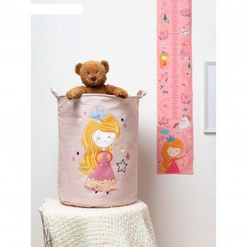Корзинка текстильная этель magic princess 34х43 см, водонепроницаемая