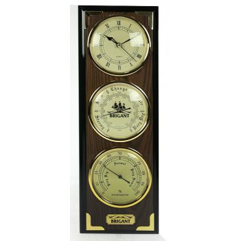Часы-метеостанция brigant барометр, часы, гигрометр 41*14*5см