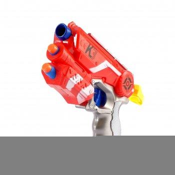 Бластер к-3, стреляет мягкими пулями, в пакете , микс