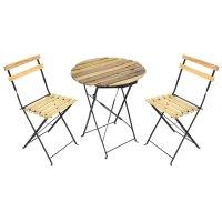 Набор складной мебели (2 стула 46х56х85 см, стол 60х71 см), сталь, текстал