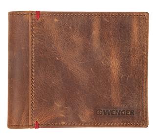 Портмоне wenger, кожа, цвет коричневый 11х9см