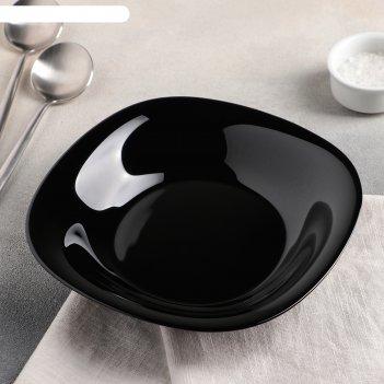 Тарелка суповая 23,5 см carine black