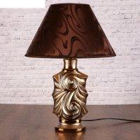 Лампа настольная керамика е27 40вт 220в вьюга стразы 45,5х32,5х32,5 см