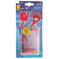 Набор для плетения браслетов finger loom, красный станок