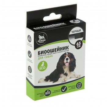 Биоошейник антипаразитарный пижон premium для собак, чёрный, 65 см