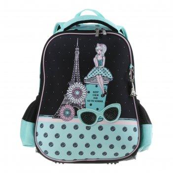 Рюкзак каркасный hatber ergonomic light 38 х 29 х 6, для девочки парижские