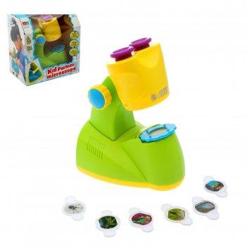 Игрушка обучающая микроскоп, 6 предметов