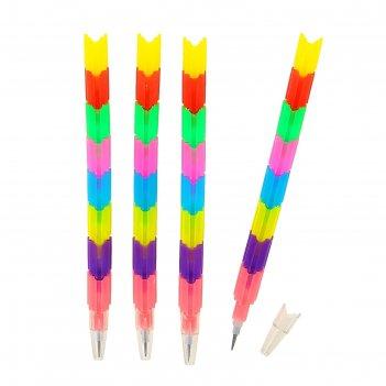 Набор карандашей секционных ч/г пазлы микс (4шт)
