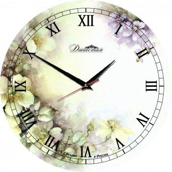 Настенные часы из стекла династия 01-017 нежность