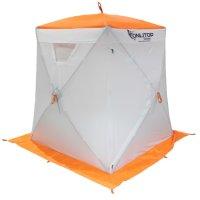 Палатка призма 150 (3-сл) стежка 210/100 люкс композит, бело-оранжевая