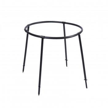 Кустодержатель пластиковый d=64 см, h=86 см, ножка d=2 см, черный смородин
