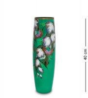 Vz-577 ваза стеклянная жостово h-400 (бочка)