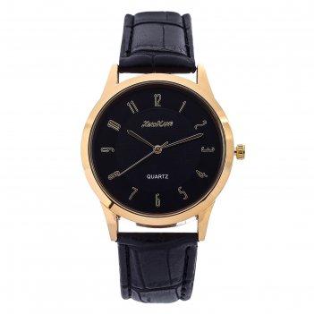 Часы наручные мужские колтон, ремешок из экокожи, d=4 см, микс