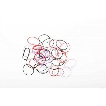 Резинки для волос dewal beauty цветные силикон., mini (50 шт)