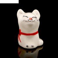 Статуэтка фарфоровая «кошка япошка», 5см
