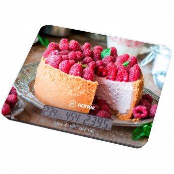 Весы кухонные торт hottek ht-962-037 с отображением тем-ры и времени, макс