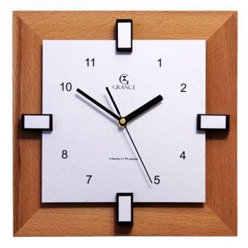 Часы настенные b-02  тик 270х270х40 мм